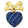 Blue Heart Bow Pin