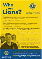 Who Are Lions Membership Poster
