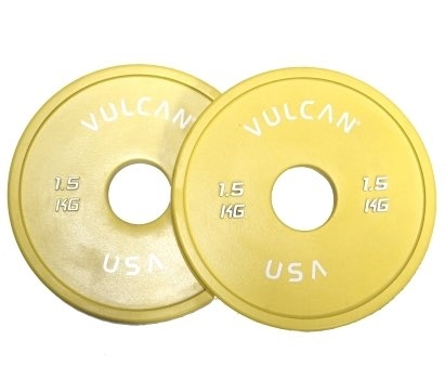 1.5 kg V-Lock Olympic Weightlifting Rubber Disc