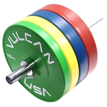Vulcan 110 kg Color Training Bumper Plate Set