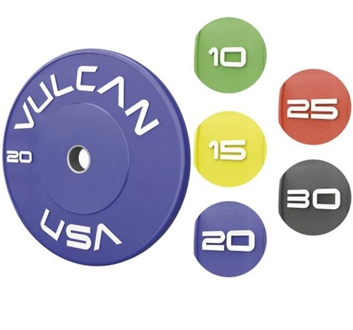 Vulcan 120 kg Color Training Bumper Plate Set