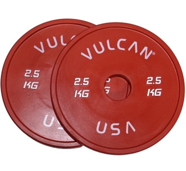 2.5 kg V-Lock Olympic Weightlifting Rubber Disc