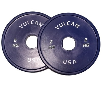 2 kg V-Lock Olympic Weightlifting Rubber Disc