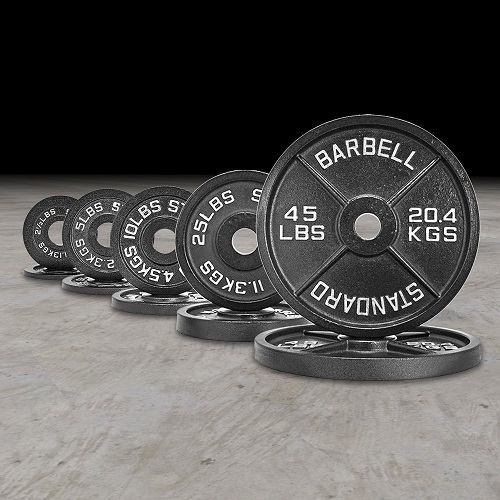5 lb Olympic Cast Iron Weight Plates