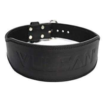 Vulcan Black Leather Weightlifting Belt