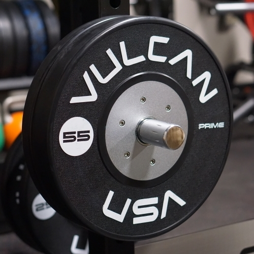 55lb Prime Black Comp. Bumper Plate Pair - PRE ORDER [SOLD OUT]
