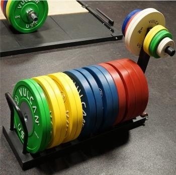 Bumper Plates Storage Rack with Change Plate Storage