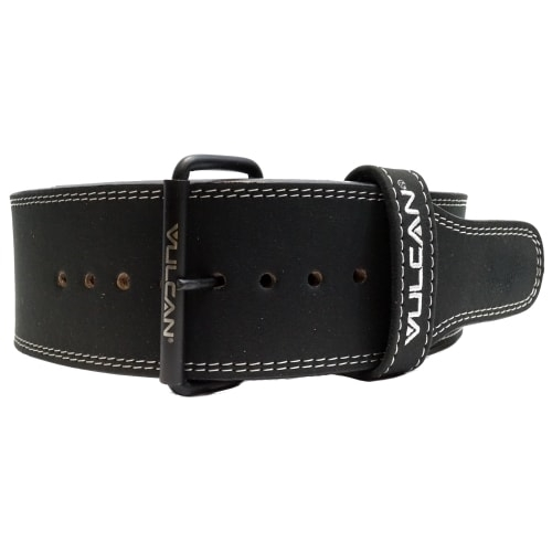 Vulcan Black Leather Powerlifting Belt