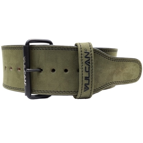 Vulcan Green Leather Powerlifting Belt