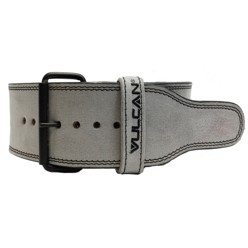 Vulcan Grey Leather Powerlifting Belt