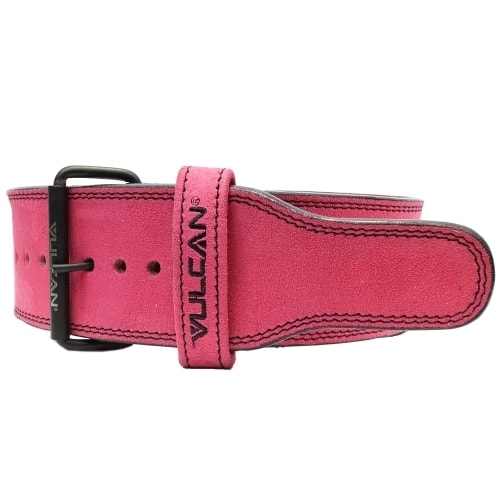 Vulcan Pink Leather Powerlifting Belt