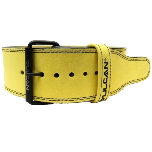 Vulcan Yellow Leather Powerlifting Belt