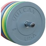 Vulcan 500lb Color Rubber Bumper Plate Set