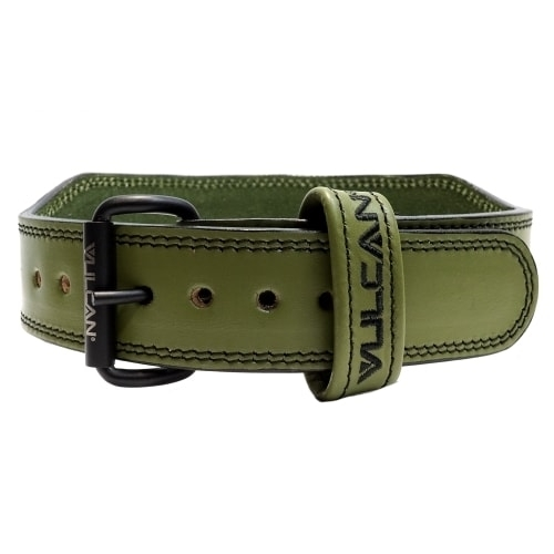 Vulcan Green Leather Weightlifting Belt