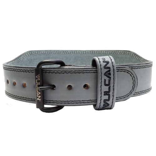 Vulcan Grey Leather Weightlifting Belt