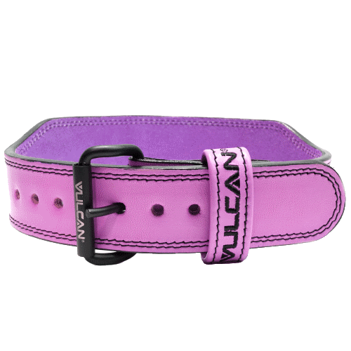 Vulcan Pink Leather Weightlifting Belt