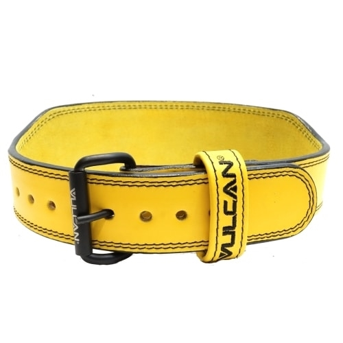Vulcan Yellow Leather Weightlifting Belt