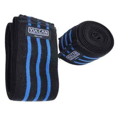 Vulcan Blue Stripe Knee Wraps