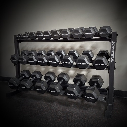 Three Tier Dumbbell Rack - Vulcan Strength