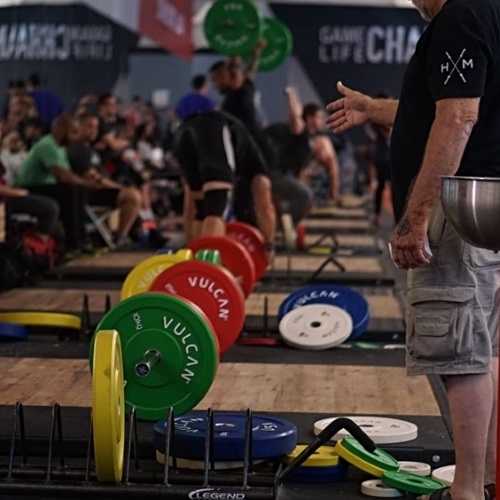 Bumper Plates Used at Events | Vulcan Strength