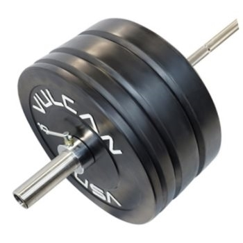 275 lb Bumper Plates and Olympic Bar Set