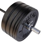 325 lb Bumper Plates and Olympic Bar Set