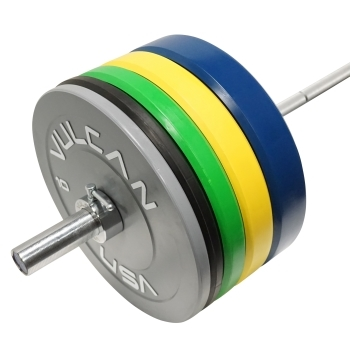 305 lb Color Bumper Plates and Olympic Bar Set
