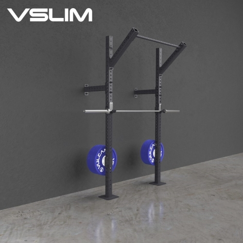 One Deep Wall Mounted Pull up Rig and Squat Rack