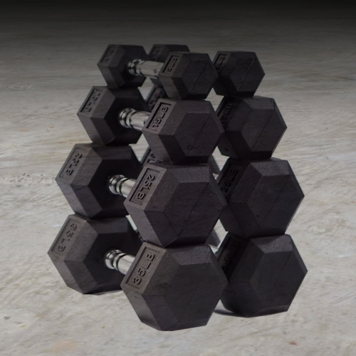 Hex Rubber Dumbbell Sets