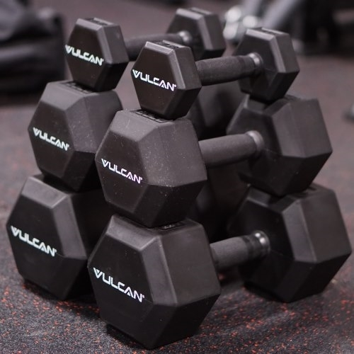 Pro Hex Rubber Dumbbell Sets - Vulcan Strength
