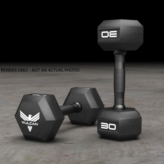 Elite Hex Rubber Dumbbell Sets - Vulcan Strength