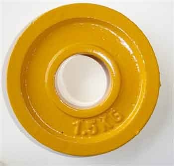 1kg Rule Yellow Metal Change Plate 1.5kg (pair)