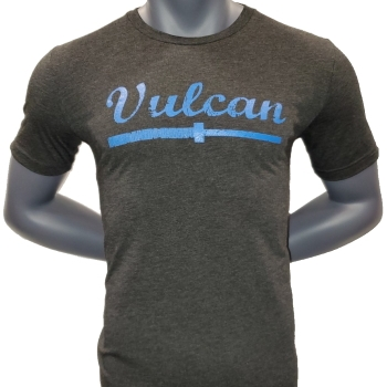 Vulcan Abused Barbell - T Shirt - Charcoal