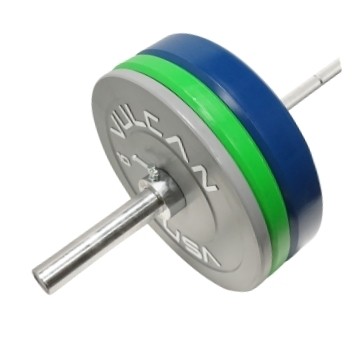 205 lb Color Bumper Plates and Olympic Bar Set