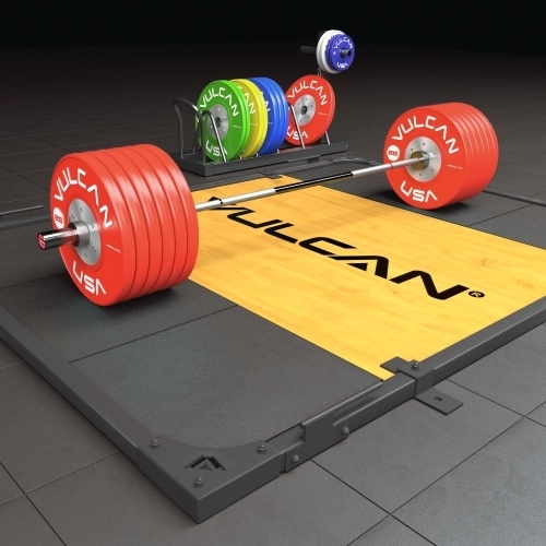 Vulcan Olympic  Weightlifting Platform with Wood Insert