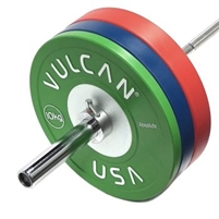 Competition Bumper Plates & Barbell Set - 130 kg Set | Vulcan Strength