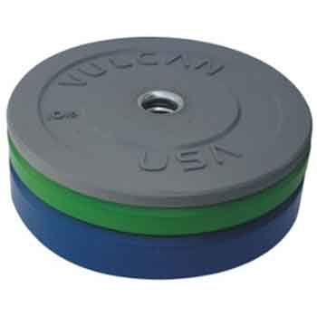 Vulcan 160lb Color Rubber Bumper Plate Set
