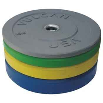 Vulcan 230lb Color Bumper Plate Set