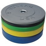 Vulcan 260lb Color Rubber Bumper Plate Set