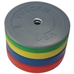 Vulcan 340lb Color Rubber Bumper Plate Set