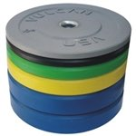 Vulcan 350lb Color Rubber Bumper Plate Set