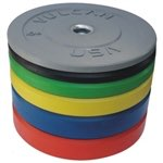 Vulcan 370lb Color Rubber Bumper Plate Set