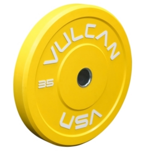 Vulcan 35lb Color Bumper Plate - Yellow (Pair)