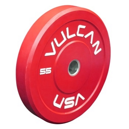 Vulcan 55lb Color Bumper Plate - Red
