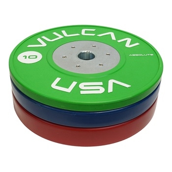 Vulcan Competition Bumper Plates - 110 kg Set