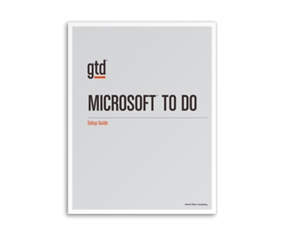 GTD and Microsoft To Do Setup Guide