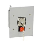 1KFS - Nema 1 Interior Tamperproof Open-Close Key Switch With Stop Button Flush Mount