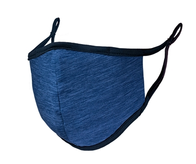FACE MASK -  Adult size - heather blue
