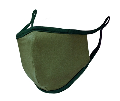 FACE MASK -  Adult size - hunter green