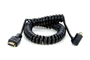 Coiled -Right angle Micro to Full HDMI 50cm